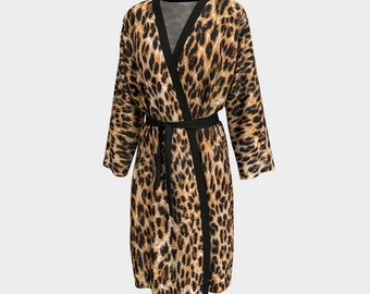 Leopard Spotted Peignor Robe