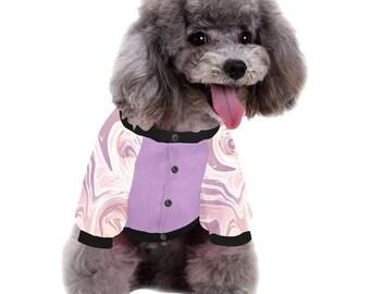 Dog Shirt Pink Marble
