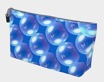 Blue Bubbles Make Up Bag