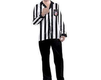 Men's Satin Pajamas Referee Style