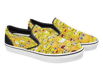 Emoji Women's Slip On Sneakers