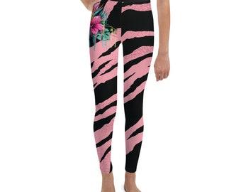 Youth Leggings Pink Tiger