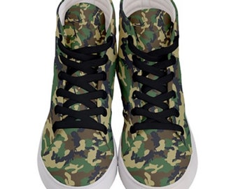 Men's Hi Top Skateboard Shoe Camo