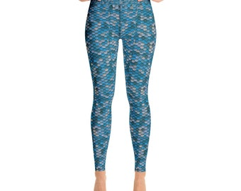 Yoga Leggings Mermaid Turquoise