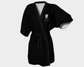 White Rose Kimono Robe