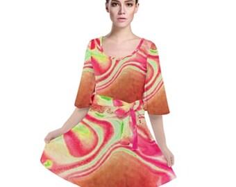 Women's Velour Kimono Dress