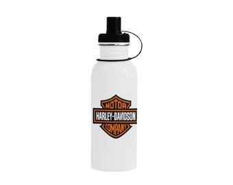 Manchester 22 oz Sports Bottle Motorcycle