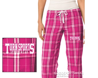 Turnsport Women's District Pink Plaid Pajama bottoms