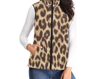 Women's Padded Vest Leopard