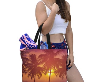 Tote Bags Canvas Three Sizes Palm Trees