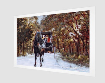 Horse Buggy Trail  Fine Art Print