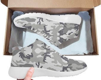 Men's Basketball Training Shoes Gery Camo