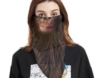 Face Cover Bandana Monkey Smirk