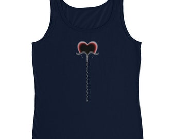Ladies Missy Fit Ringspun Tank Top with Tear Away Label