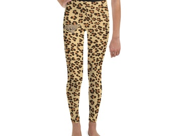 Youth Leggings Leopard Print