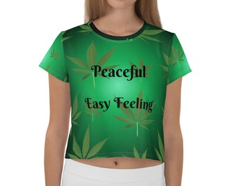 All-Over Print Crop Tee Peaceful Easy Feeling