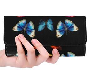 Women's Trifold Wallet Butterflies
