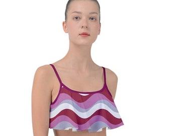 Women's Frill Bikini Top