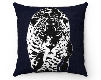 Faux Suede Square Pillow Leopard