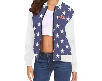 Women's Bomber Jacket American Style