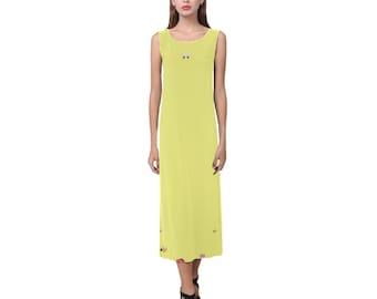 Women's Long Split Dress Yellow