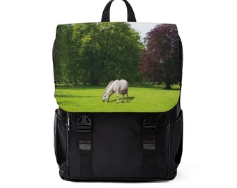 Casual Shoulder Backpack Horse Field