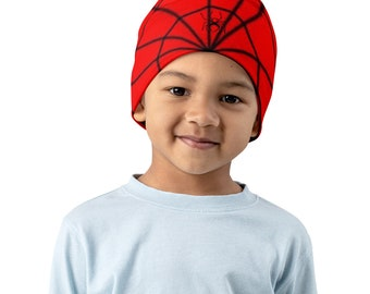 Spiderman Print Kids Beanie
