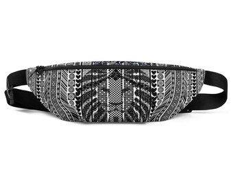 Fanny Pack African Pattern BW