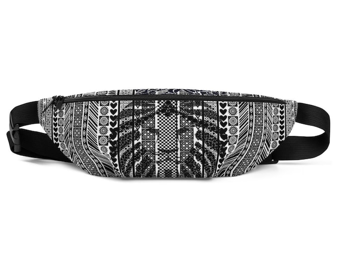 Featured listing image: Fanny Pack African Pattern BW