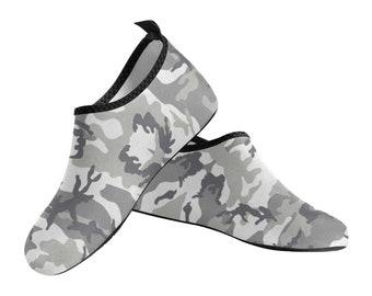 Men's Slip On Water Shoes Grey Camo