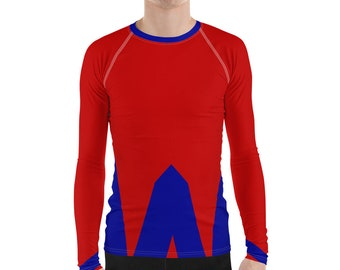 Men's Rash Guard Red Blue