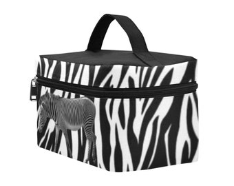 Cosmetic Bag Zebra Pattern