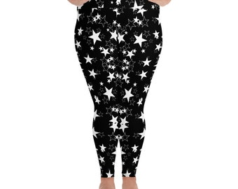 Plus Size Leggings Stars
