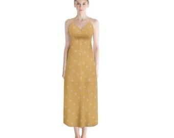 Women's Button Chiffon Maxi Dress