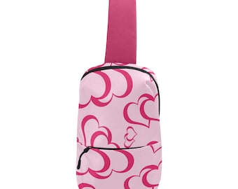 Pinky Hearts Crossbody Chest Bag