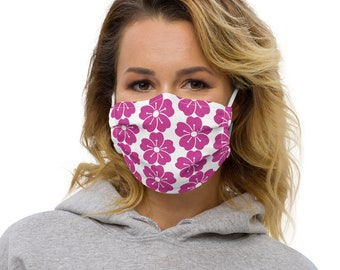 Premium face mask Pink Flowers