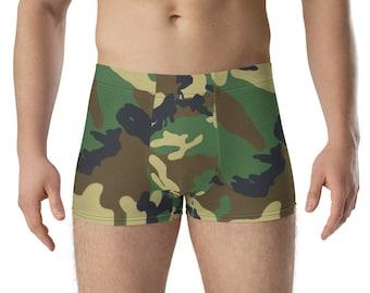 Boxer Briefs Green Camouflage