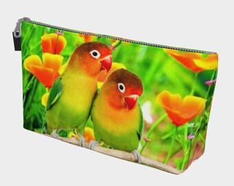 Make Up Bag Love Birds