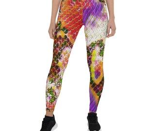 Women's Leggings Flower Candy Snake