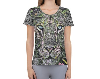 Women's WildRness Athletic T-shirt Lion