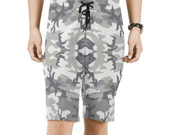 Men's Grey Camouflage Board Shorts