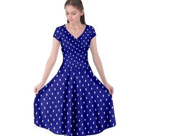 Women's Cap Sleeve Front Wrap Dress