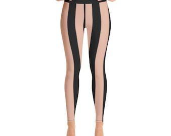 Yoga Leggings black Stripes
