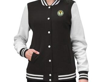 WomenS Varsity Jacket Logo