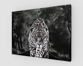 Smokey Leopard Canvas Print