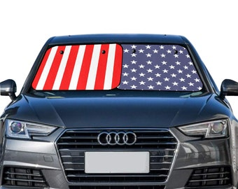 Car Sun Shade Two Piece American