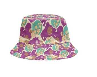 Reversible Bucket Hat Colorful Floral