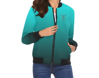Women's Blended Colors Bomber Jackets