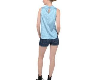 Women's High Neck Sleeveless Satin top