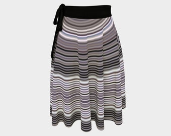 Pinstripe Black Wrap Skirt